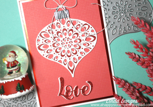 Ornament card red