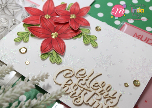 Poinsettia card CU
