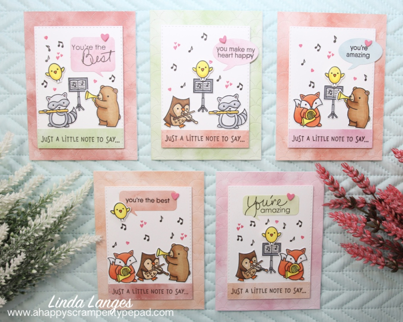 Set of 5 Val's Cards