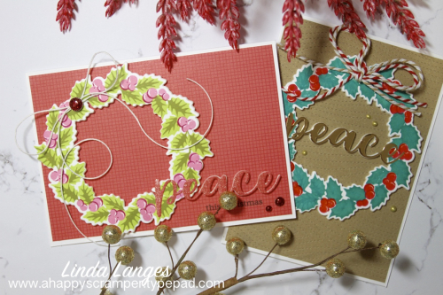 Wreath Cards x 2