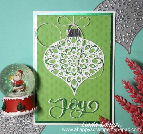 Ornament card green