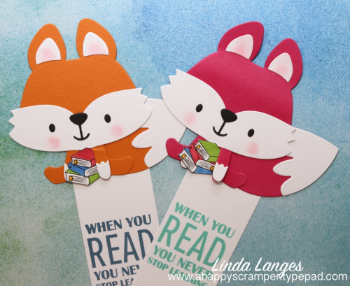 9 x bookmarks-orange and hot pink