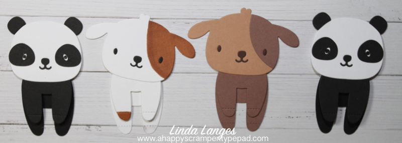 Panda and Dog Bookmarks x 4