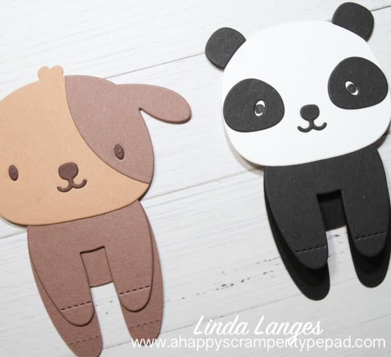Panda and Dog Bookmarks x 2